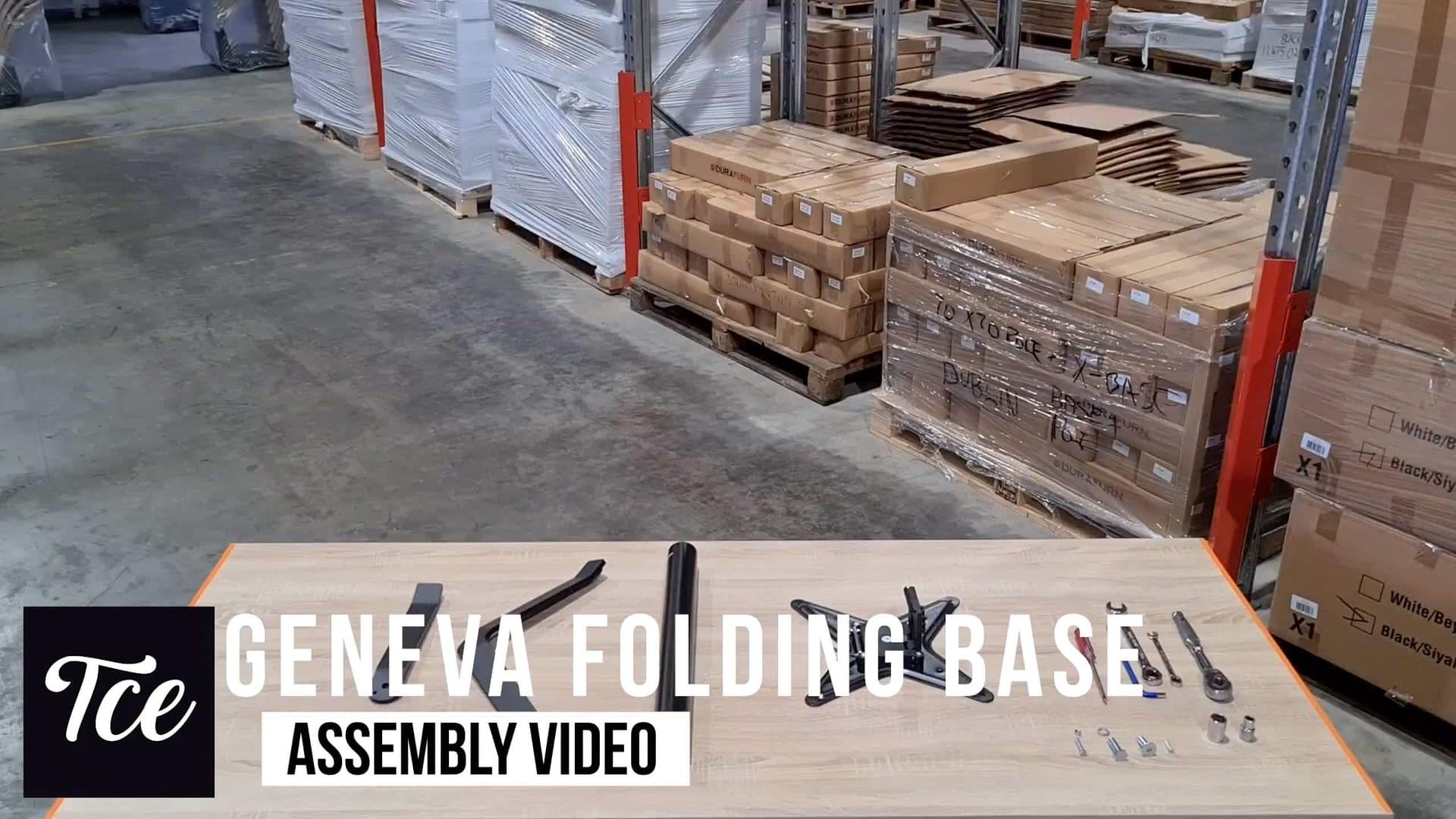 Assembly for the Geneva Folding Table Base
