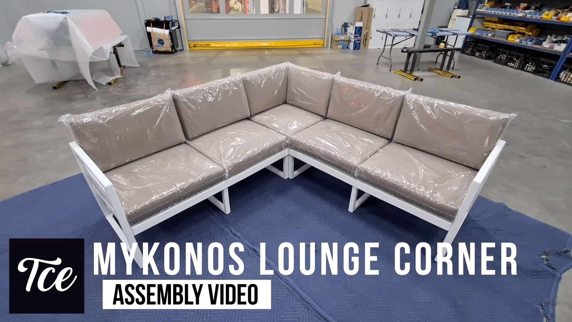 Assembly for the Mykonos Lounge Corner