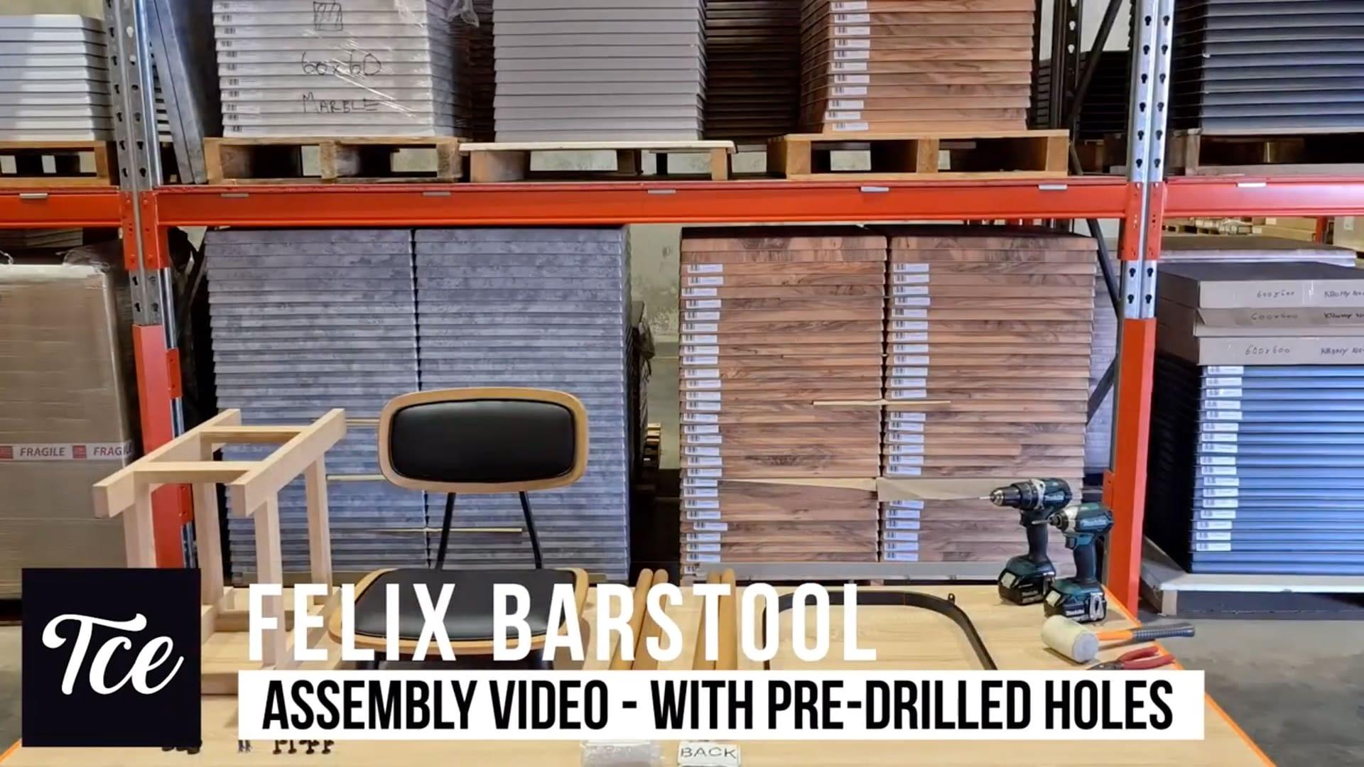 Assembly of the Felix Barstool