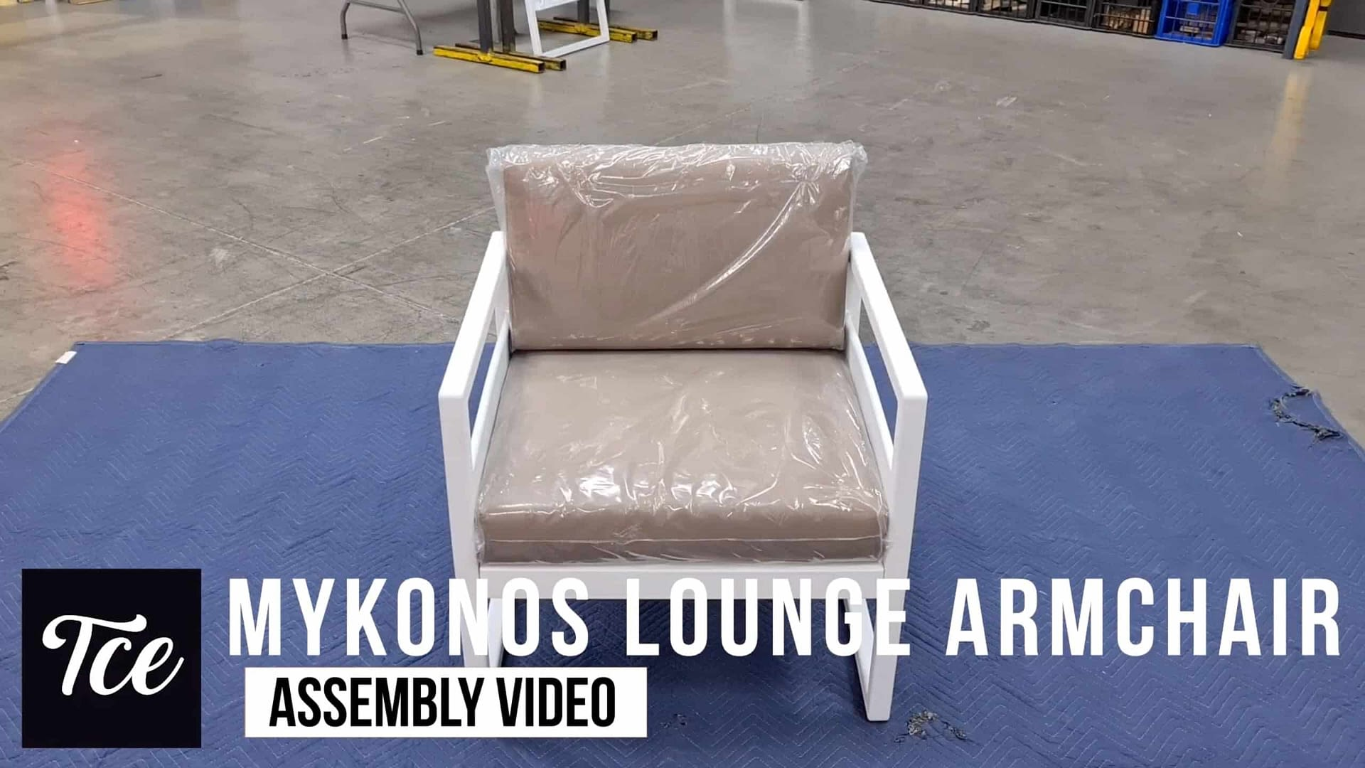 Assembly for the Mykonos Lounge Armchair